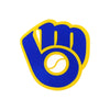MLB Milwaukee Brewers Vintage Glove Metal Logo