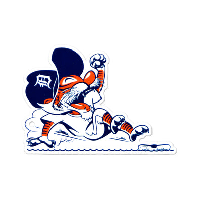 Detroit Tigers Laser Cut Steel Logo Spirit Size-Sliding Kitty