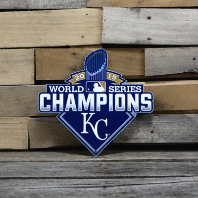 Kansas City Royals Laser Cut Steel Logo Spirit Size-WS 2015 Champions