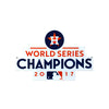 Houston Astros Laser Cut Steel Logo Spirit Size -WS 2017 Champions