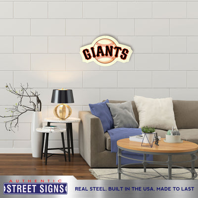 San Francisco Giants Laser Cut Steel Logo Statement Size-Primary Logo