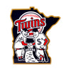 Minnesota Twins Laser Cut Steel Logo Statement Size-Minnie & Paul