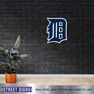 Detroit Tigers Laser Cut Steel Logo Statement Size-Gothic D