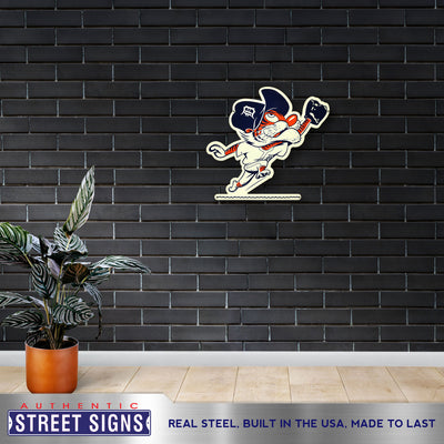 Detroit Tigers Laser Cut Steel Logo Statement Size-Outfield Kitty