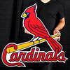 EXTRA LARGE St. Louis Cardinals Bird on Bat STEEL Logo Sign 36'' X 36""