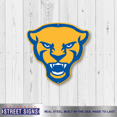 Pittsburgh Panthers Laser Cut Steel Logo Spirit Size-Panther Head