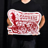LARGE Oklahoma Sooners Schooner STEEL Logo Sign