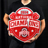 LARGE Ohio State Champs STEEL Logo Sign