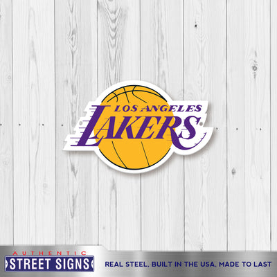 Los Angeles Lakers STEEL 12 Inch NBA Logo Sign