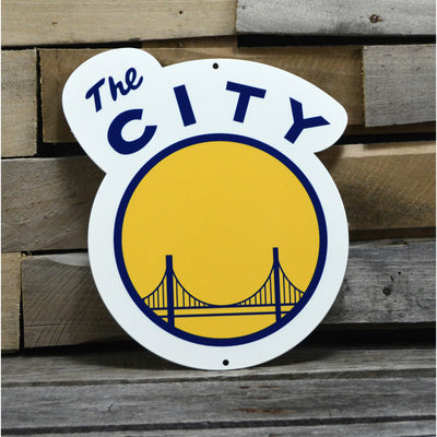Golden State Warriors The City STEEL 12 Inch NBA Logo Sign