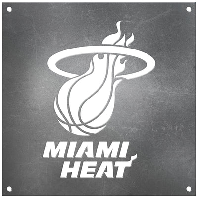 Miami Heat Laser Cut Raw Steel Sign Spirit Size-Primary Logo