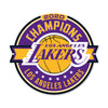 Los Angeles Lakers Laser Cut Steel Logo Spirit Size-2020 Champions