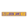 "Los Angeles Lakers Steel Street Sign 6"" Magnet-23 LEBRON JAMES"