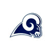 NFL Los Angeles Rams Metal Super Magnet-Navy & White