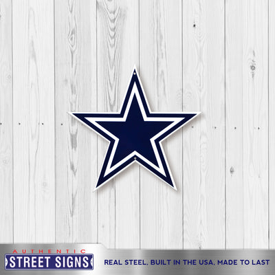 Dallas Cowboys Laser Cut Steel Logo Spirit Size-Primary Logo