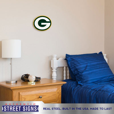 Green Bay Packers Laser Cut Steel Logo Spirit Size-Primary Logo