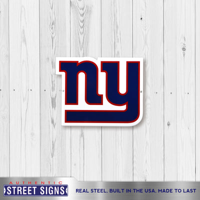 New York Giants Laser Cut Steel Logo Spirit Size-Primary Logo