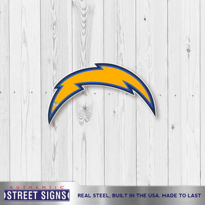 Los Angeles Chargers Laser Cut Steel Logo Spirit Size-Primary Logo