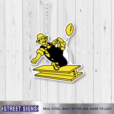Pittsburgh Steelers Laser Cut Steel Logo Spirit Size-Vintage Logo