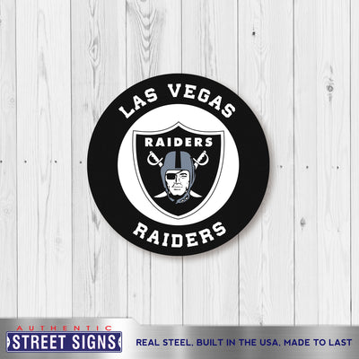 Las Vegas Raiders Laser Cut Steel Logo Spirit Size-Circle Logo