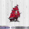 Tampa Bay Buccaneers Laser Cut Steel Logo Spirit Size-Pirate Ship Logo
