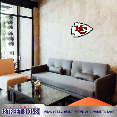 Kansas City Chiefs Laser Cut Steel Logo Statement Size-Primary Logo