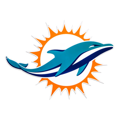 Miami Dolphins Laser Cut Steel Logo Statement Size-Primary Logo