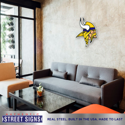 Minnesota Vikings Laser Cut Steel Logo Statement Size-Primary Logo