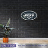 New York Jets Laser Cut Steel Logo Statement Size-Primary Logo