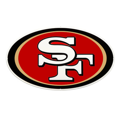 San Francisco 49ers Laser Cut Steel Logo Statement Size-Primary Logo