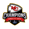 Kansas City Chiefs Laser Cut Steel Logo Statement Size-SB50 Champions