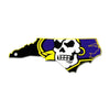 NCAA East Carolina Pirates Metal Super Magnet- State Logo
