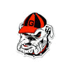 NCAA Georgia Bulldogs Metal Super Magnet-Vintage Bulldog Head