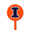 NCAA Illinois Fighting Illini STEEL Garden Stake-Orange