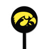 NCAA Iowa Hawkeyes STEEL Garden Stake- Black