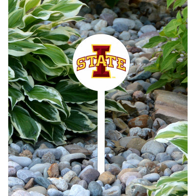 NCAA Iowa State Cyclones STEEL Garden Stake- White