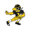 NCAA Iowa Hawkeyes Metal Super Magnet- Old School Stiff Arm Herky
