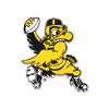 NCAA Iowa Hawkeyes Metal Super Magnet- Old School Football Herky