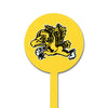 NCAA Iowa Hawkeyes STEEL Garden Stake- Vintage Flying Herkey