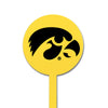NCAA Iowa Hawkeyes STEEL Garden Stake- Yellow