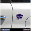 NCAA Kansas State Wildcats Metal Super Magnet- Powercat