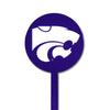 NCAA Kansas State STEEL Garden Stake- Purple