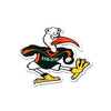 NCAA Miami Hurricanes Metal Super Magnet- Ibis