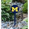 NCAA Michigan Wolverines STEEL Garden Stake- M Navy