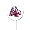 NCAA Mississippi State STEEL Garden Stake- Dog Over M White
