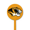 NCAA Missouri Tigers STEEL Garden Stake- Tiger Head on Gold