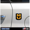 NCAA Missouri Tigers metal Super Magnet-Stacked MU