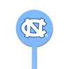 NCAA North Carolina STEEL Garden Stake- Light Blue