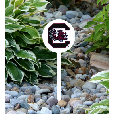 NCAA South Carolina STEEL Garden Stake- White