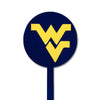 NCAA West Virginia STEEL Garden Stake- Blue